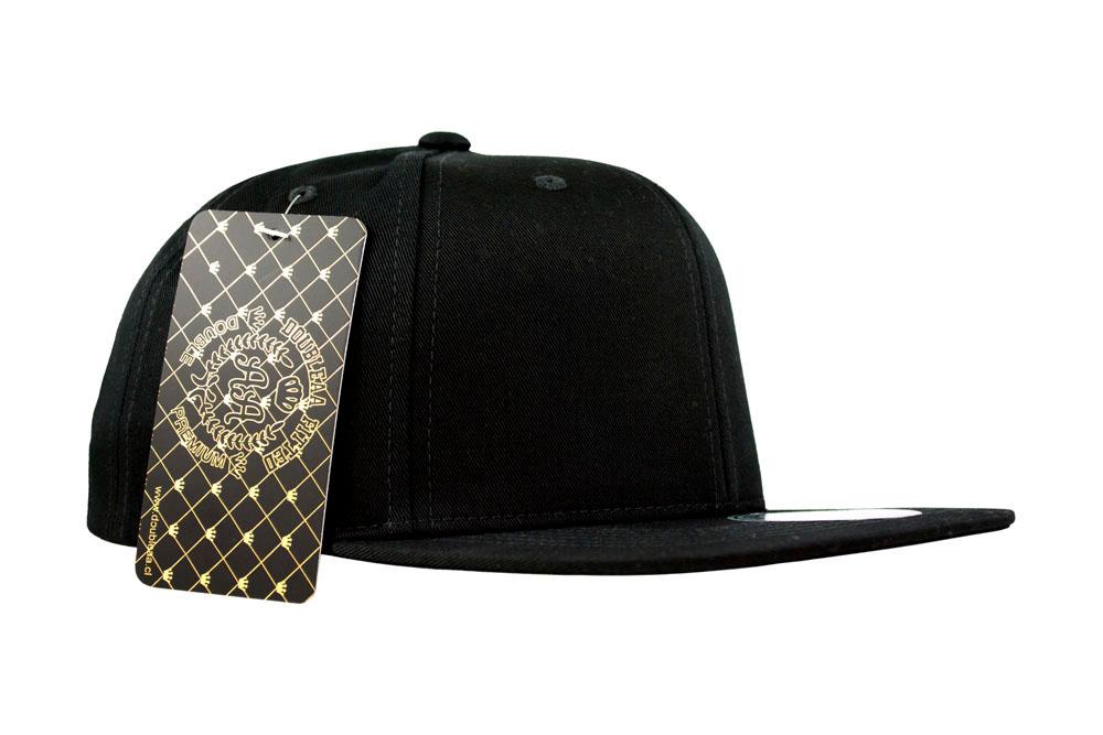 355fe3d2e213a Snapback - Double AA - Sin Bordado - Negro - Front